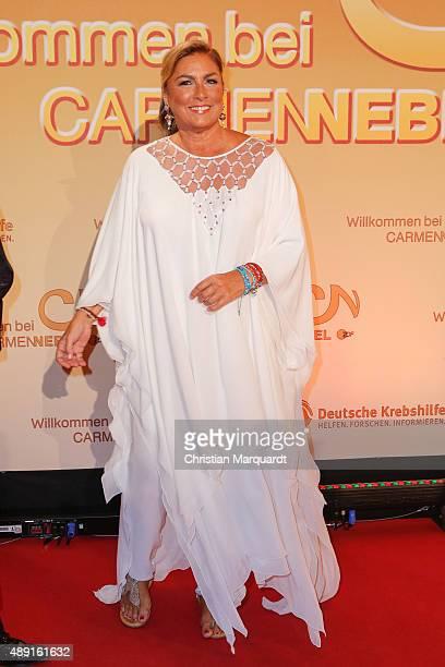 Romina Power attends the red carpet of the television show 'Willkommen bei Carmen Nebel' at Velodrom on September 19 2015 in Berlin Germany