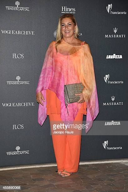 Romina Power attends Vogue Italia 50th Anniversary during Milan Fashion Week Womenswear Spring/Summer 2015 on September 21 2014 in Milan Italy