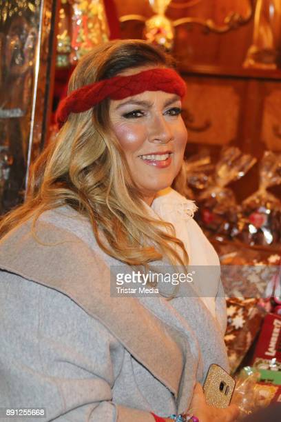 Romina Power during a walk trough the Christmas Market on December 12 2017 in Hamburg Germany