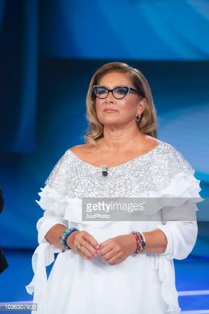 Romina Power in Domenica In TV show in Rome Italy on September 16 2018