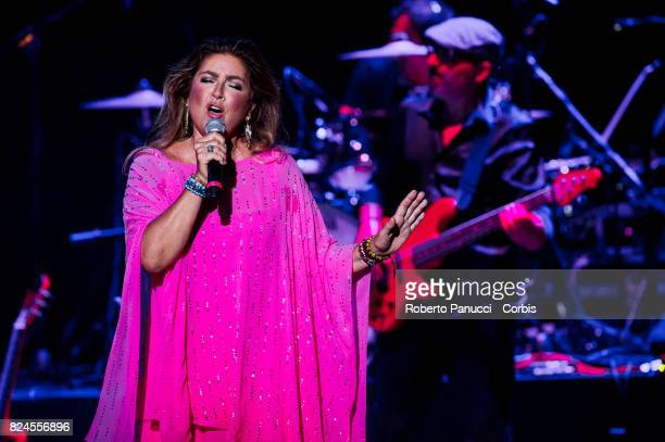 Romina Power performs on stage on July 28 2017 in Rome Italy