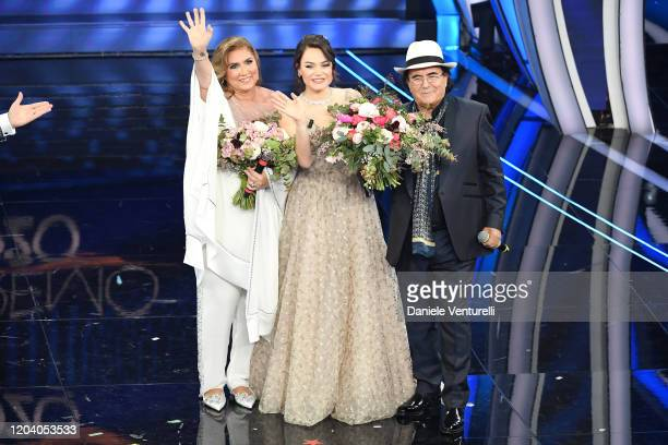 Romina Power Romina CarrisiPower Albano Carrisi attend the 70° Festival di Sanremo at Teatro Ariston on February 04 2020 in Sanremo Italy
