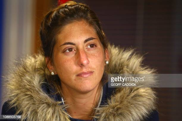 Romina Sala sister of Cardiff City's missing Argentinian footballer Emiliano Sala whose flight disappeared from radar over the English Channel north...