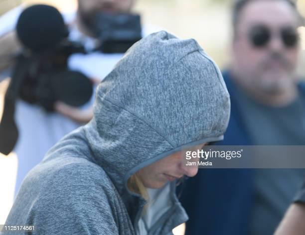 Romina Sala sister of Emiliano Sala leaves from Sala's boyhood club San Martin de Progreso on February 16 2019 in Progreso Argentina 28yearold...
