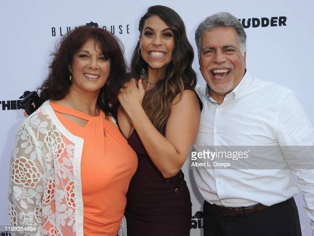 Romina Saul Gigi Saul Guerrero and Fabian Saul attend the 6th Annual Etheria Film Showcase held at American Cinematheque's Egyptian Theatre on June...
