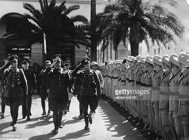 Rommel Erwin *15111891 Offizier Generalfeldmarschall D Kommandeur Afrikakorps Feb41März43 Generalleutnant Rommel und der italienische...
