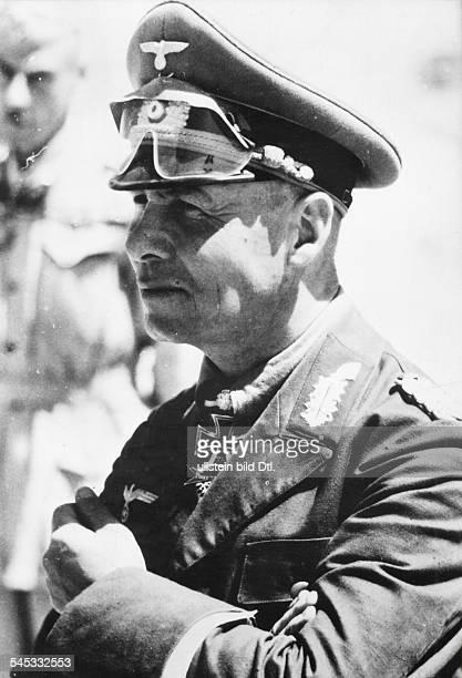 Rommel Erwin 18911944Officer general field marshall germanycommander of the german africa corps Feb41March 43 Portrait as LtGen ahaed of Tobruk June...