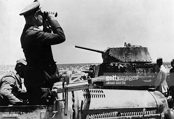 Rommel Erwin 18911944Officer general field marshall germanycommander of the german africa corps Feb41March 43 Lt gen Rommel in his command post...