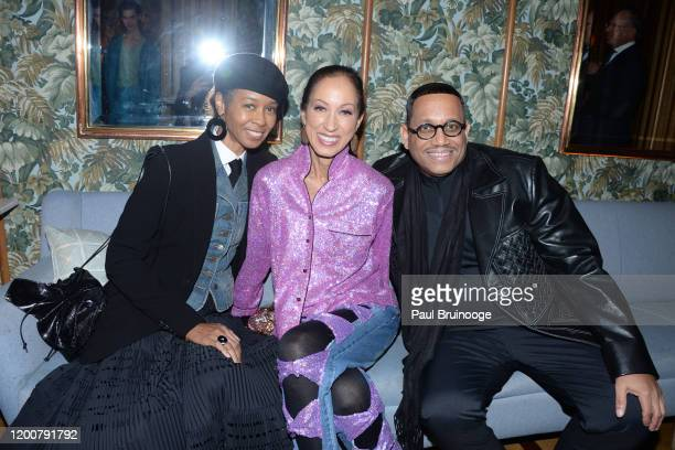 Romney Mueller Pat Cleveland and Maurice Lynch attend MAC Nordstrom And The CFDA Host The After Party For The Times Of Bill Cunningham at Bistrot Leo...