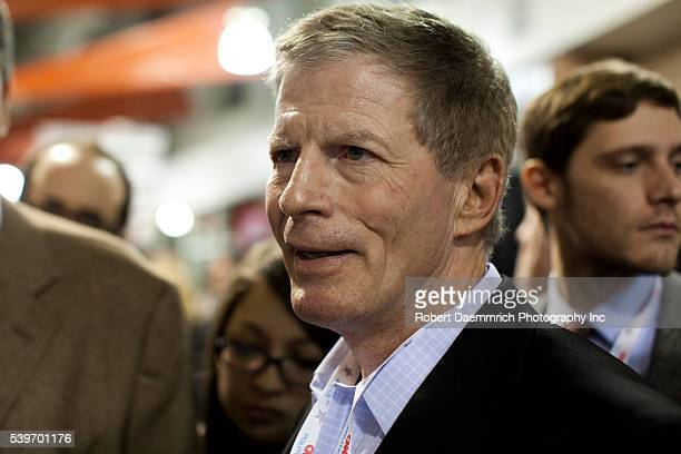 Romney strategist Stuart Stevens speaks to reporters after the as he visits the spin room after the CNN debate in North Charleston on January 19,...