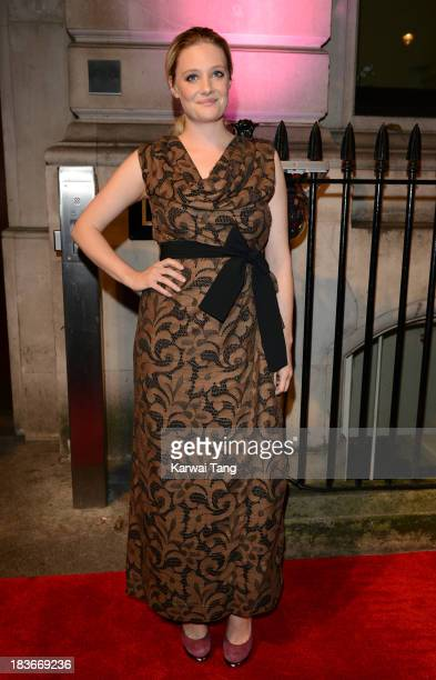 Romola Garai attends a gala dinner hosted by the BFI ahead of the London Film Festival at 8 Northumberland Avenue on October 8 2013 in London England