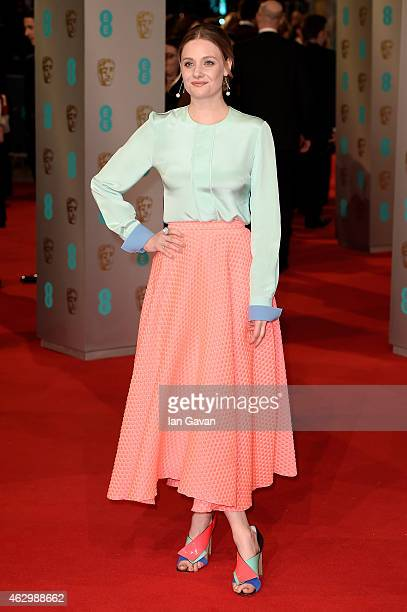 Romola Garai attends the EE British Academy Film Awards at The Royal Opera House on February 8 2015 in London England