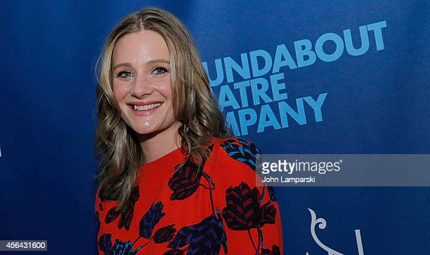 Romola Garai attends the 'Indian Ink' OffBroadway Opening Night at Roundabout Theatre Company's Laura Pels Theatre on September 30 2014 in New York...