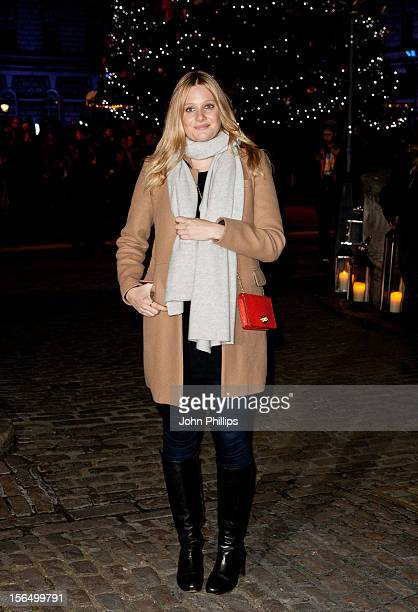 Romola Garai attends the launch party for the Somerset House Ice Rink at Somerset House on November 15 2012 in London England