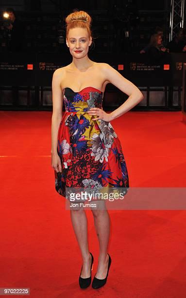 Romola Garai attends the Orange British Academy Film Awards 2010 at the Royal Opera House on February 21 2010 in London England