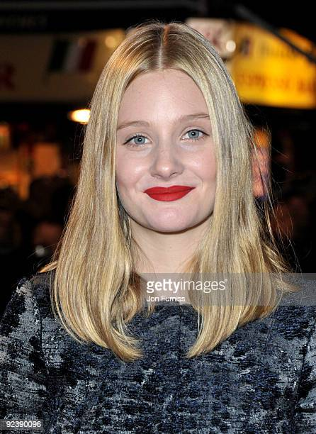 Romola Garai attends the red carpet premiere of Glorious 39 at The Times BFI London Film Festival on October 27 2009 in London England