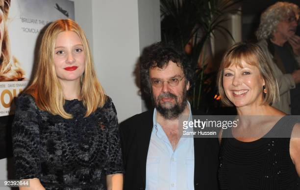 Romola Garai director Stephen Poliakoff and Jenny Agutter attend the 'Glorious 39' after party held at Kettner's Soho during the Times BFI London...