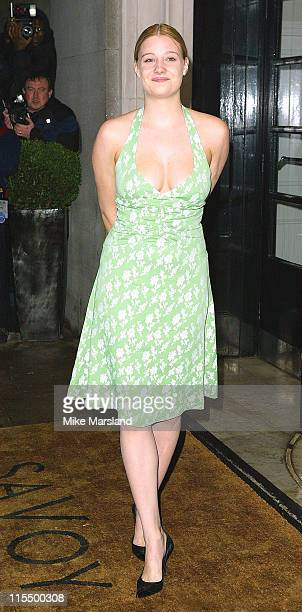 Romola Garai during The 2004 Evening Standard Film Awards Arrivals at The Savoy London WC2 in London Great Britain