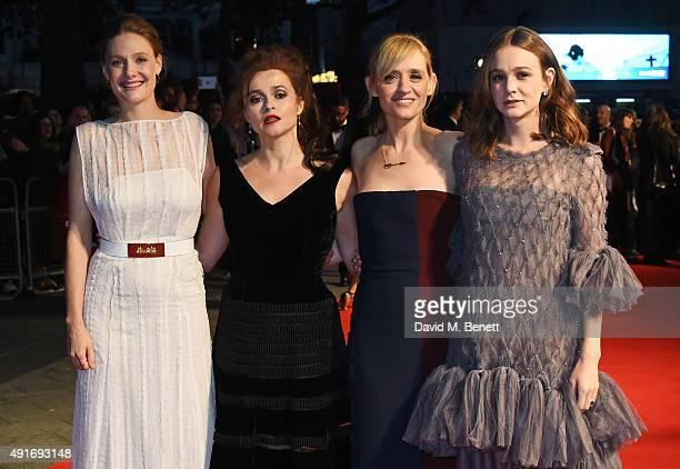 Romola Garai Helena Bonham Carter AnneMarie Duff and Carey Mulligan attend a screening of Suffragette on the opening night of the BFI London Film...