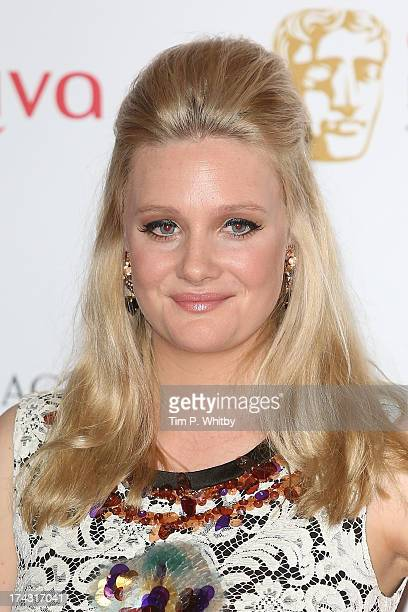 Romola Garai poses in the press room at the Arqiva British Academy Television Awards 2013 at the Royal Festival Hall on May 12 2013 in London England