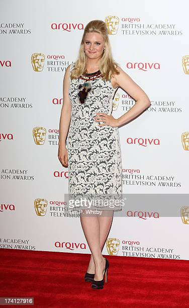 Romola Garal poses in the press room at the Arqiva British Academy Television Awards 2013 at the Royal Festival Hall on May 12 2013 in London England