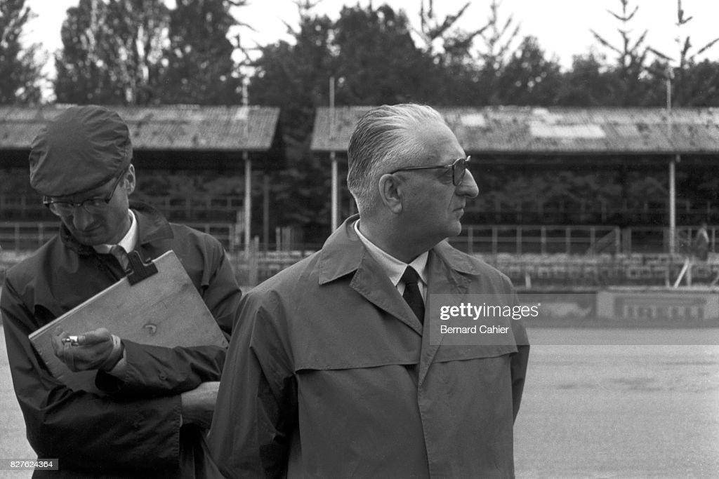 Romolo Tavoni, Enzo Ferrari, Grand Prix Of Italy : News Photo