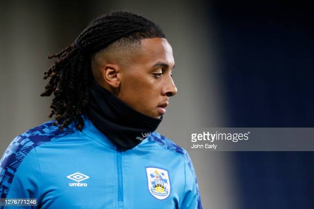 Romoney Critchlow of Huddersfield Town during the Sky Bet Championship match between Huddersfield Town and Nottingham Forest at John Smith's Stadium...