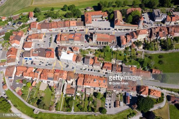romont medieval town in switzerland - ロモント ストックフォトと画像
