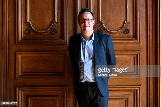 Romuald Coustre new general manager during the press conference of Paris Basket Avenir on July 12 2018 in Paris France