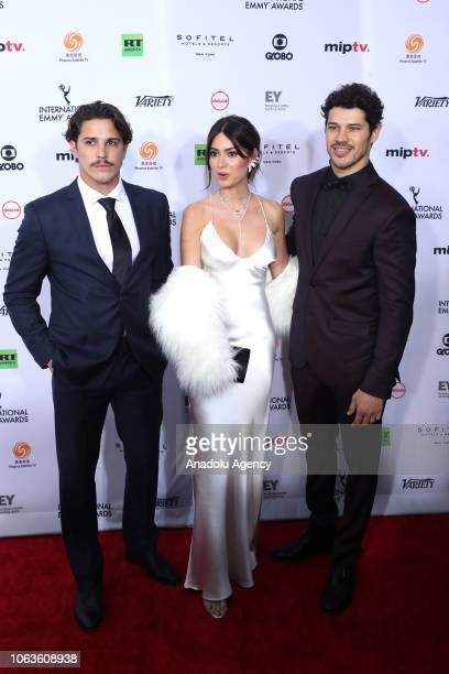 Romulo Arantes Neto Thalia Ayala and Jose Loreto arrive the 46th International Emmy Awards at New York Hilton on November 19 2018 in New York City...