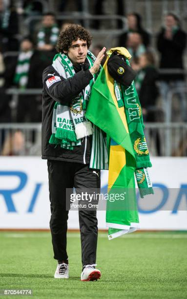Romulo Cabral Pereira Pinto during the Allsvenskan match between Hammarby IF and Halmstad BK at Tele2 Arena on November 5 2017 in Stockholm Sweden