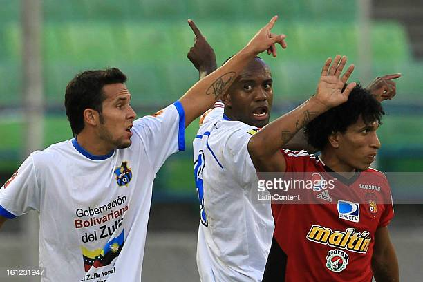 Romulo Otero of Caracas FC reacts during a match between Caracas FC and Zulia FC as part of the Torneo Clausura 2013 at Olimpico Stadium on February...