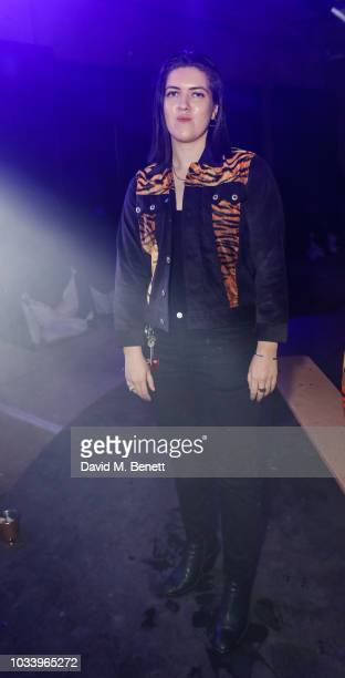 Romy attends the Gareth Pugh after show party during London Fashion Week September 2018 at Selfridges on September 15 2018 in London England