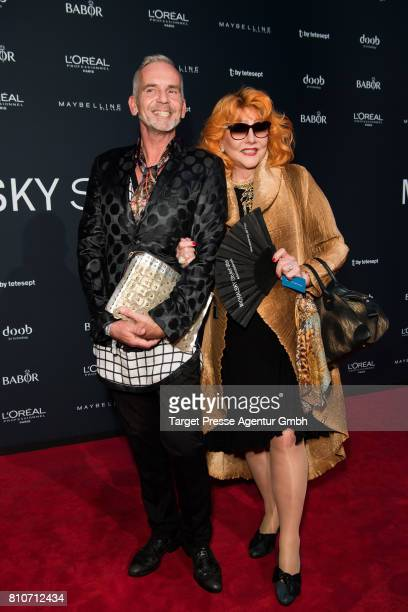 Romy Haag and Frank Wilde attend the MICHALSKY StyleNite during the MercedesBenz Fashion Week Berlin Spring/Summer 2018 at eWerk on July 7 2017 in...