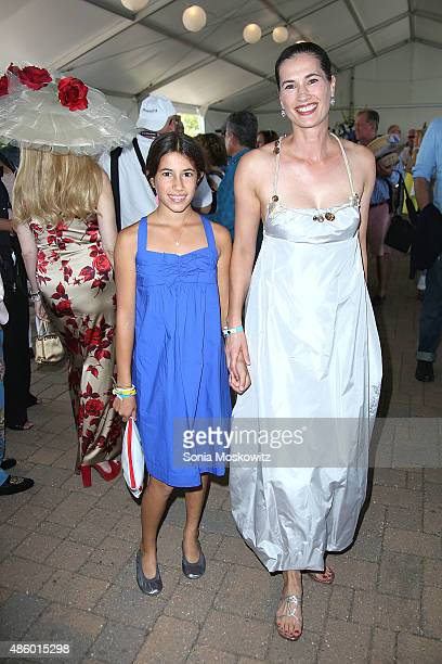Romy Lauer and Annette Lauer attend the 2015 Hampton Classic Grand Prix on August 30 2015 in Bridgehampton New York