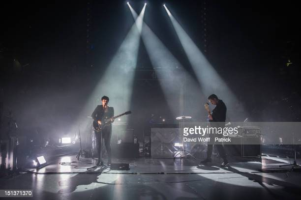 Romy Madley Croft and Oliver Sim from The XX Perform at Le Cirque d'Hiver on September 6 2012 in Paris France