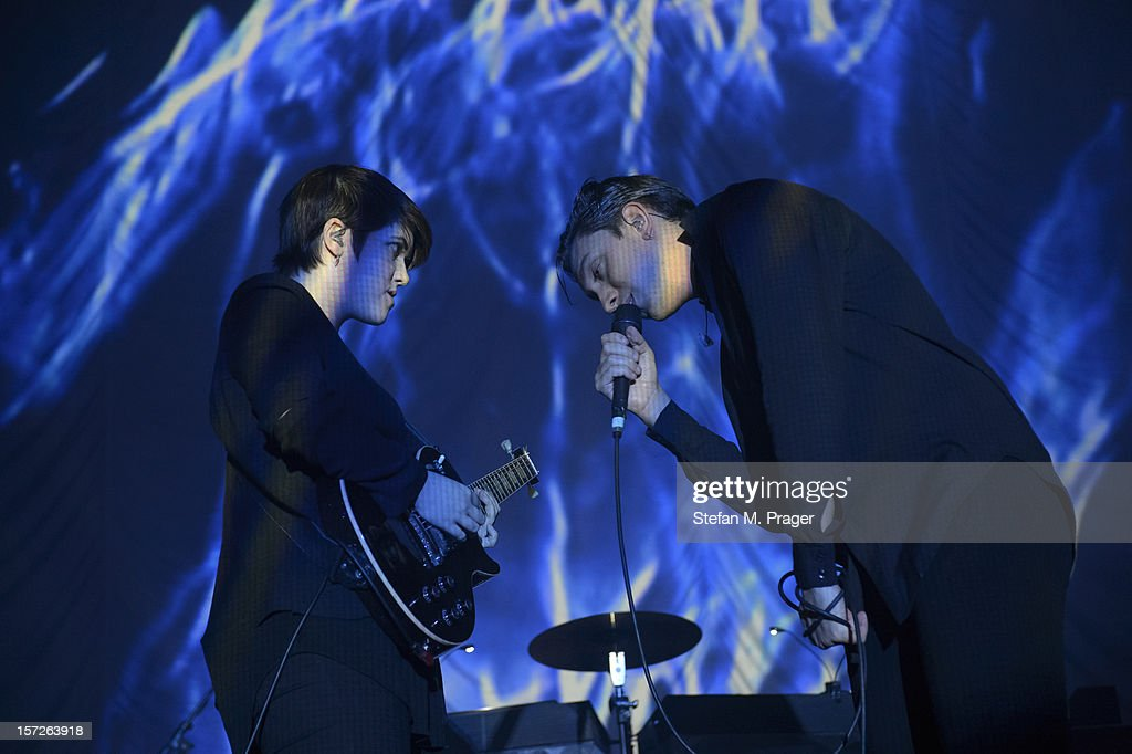 Romy Madley Croft and Oliver Sim of The XX performs at Zenith on November 30, 2012 in Munich, Germany.