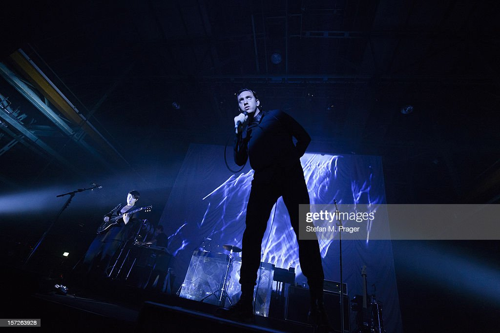 Romy Madley Croft, Jamie Smith and Oliver Sim of The XX performs at Zenith on November 30, 2012 in Munich, Germany.