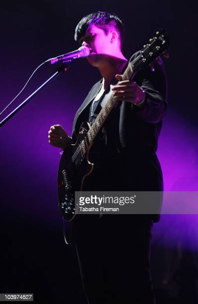 Romy Madley Croft of Mercury Music Prize winners The xx performs on the Big Top stage during the second day of Bestival at Robin Hill Country Park on...