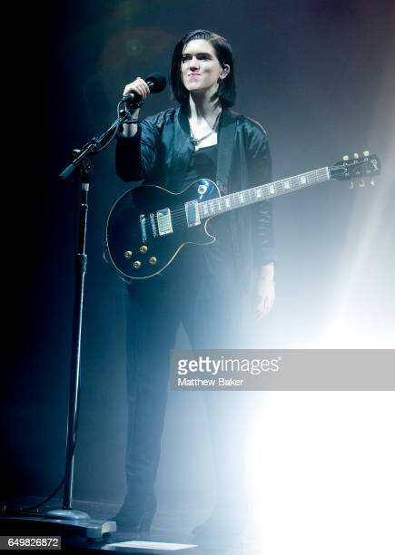 Romy Madley Croft of The XX performs at the O2 Academy Brixton on March 8, 2017 in London, United Kingdom.