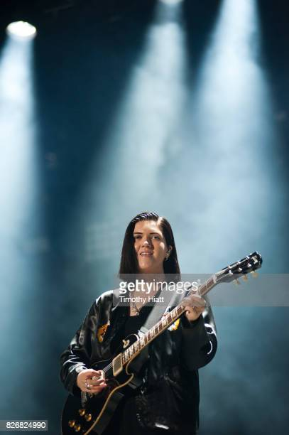 Romy Madley Croft of The XX performs on Day Three of Lollapalooza at Grant Park on August 5 2017 in Chicago Illinois
