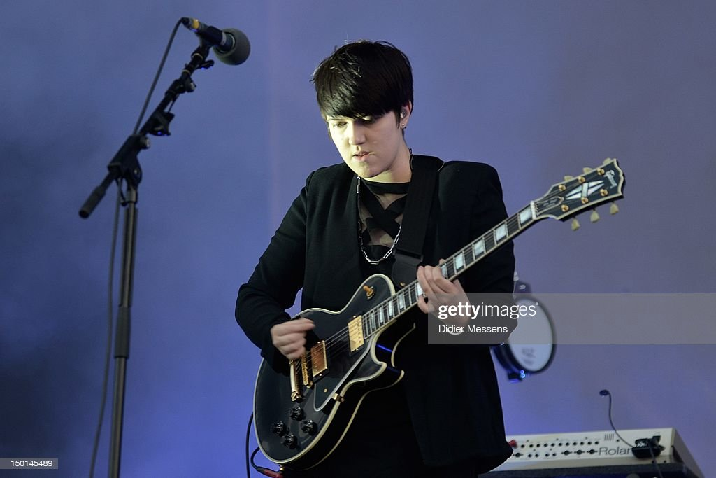 Romy Madley Croft of The XX performs on stage during Sziget Festival on August 10, 2012 in Budapest, Hungary.