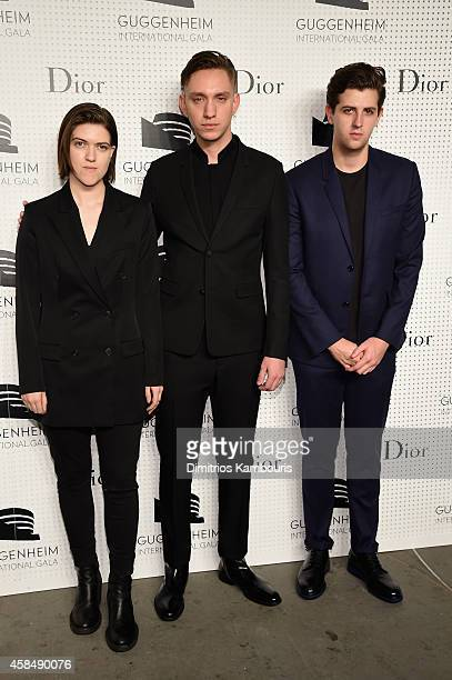 Romy Madley Croft Oliver Sim and Jamie xx of The xx attend the Guggenheim International Gala PreParty made possible by Dior on November 5 2014 in New...