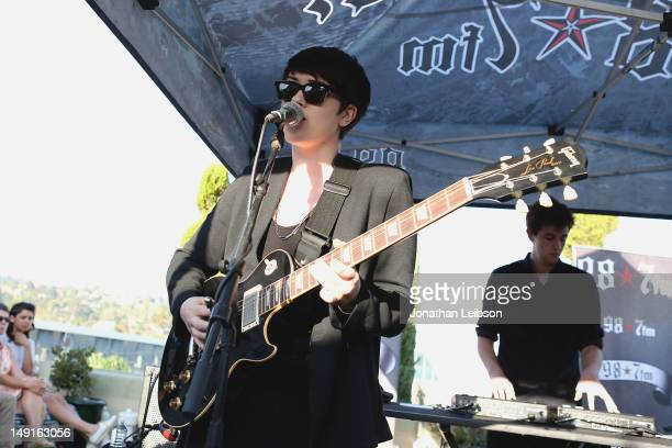 Romy Madley Croft performs at the 98.7 FM Penthouse Party Presents The xx Exclusive Live Performance at The Historic Hollywood Tower on July 23, 2012...