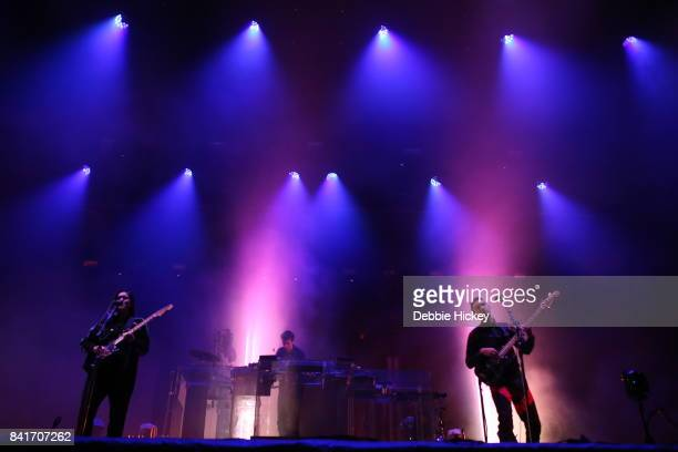 01 Romy Madley CroftJamie Smith and Oliver Sim of The XX performs at Electric Picnic Festival at Stradbally Hall Estate on September 1 2017 in Laois...