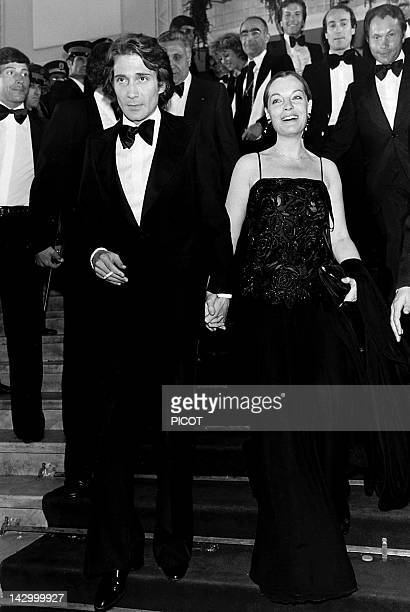 Romy Schneider and Daniel Biasini at the Cannes film festival, 1978 in Cannes, France.