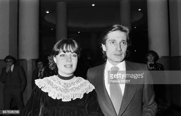 Romy Schneider and Daniel Biasini, Cesars 1977.