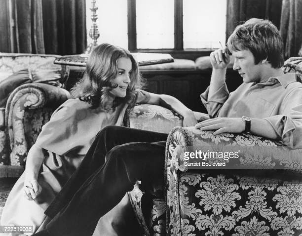 Romy Schneider and Dennis Waterman on the set of 'My Lover My Son' directed by John Newland London 1970