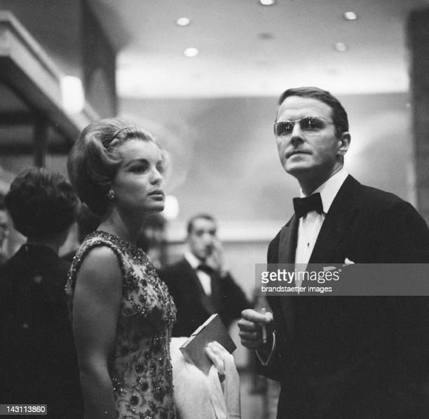 Romy Schneider and her husband visiting the Salzburg Festival Photograph 1965