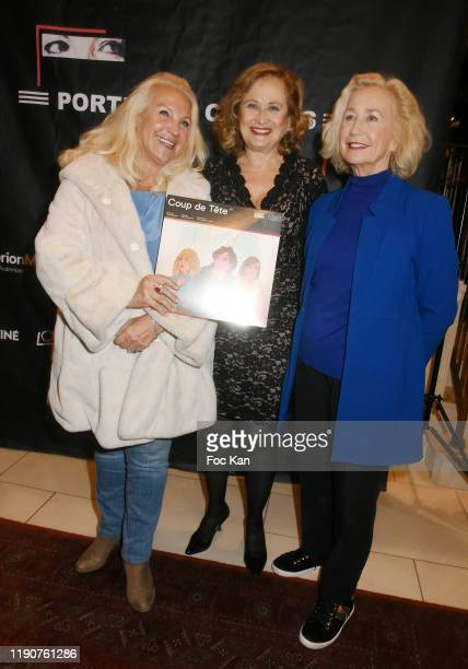Romy Schneider And Patrick Dewaere Awards cofounder Martine Vidal actresses Katia Tchenko and Brigitte Fossey attend the Portraits Croisés Photo...